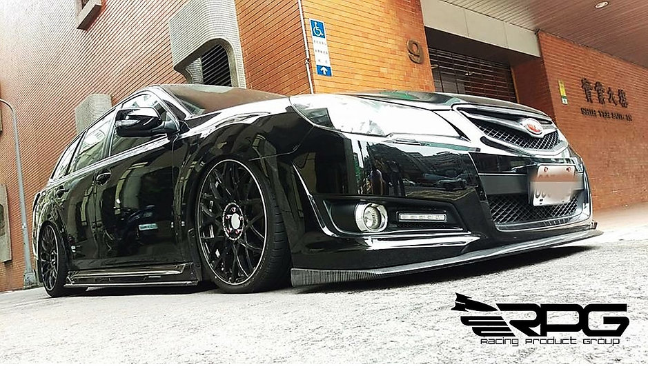 JDM Legacy BR9 STi Carbon Fiber Front Lip