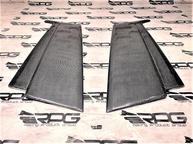 Forester SG Vacuum Carbon Rear Door Side Pillar Trim Cover