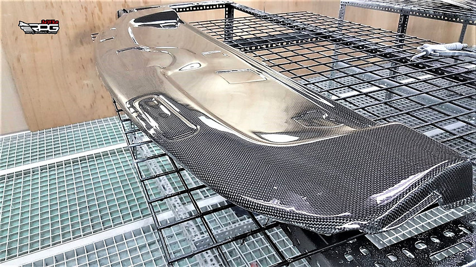 GD Chassis Vacuum Carbon Rear Deck Cover (Replacement)