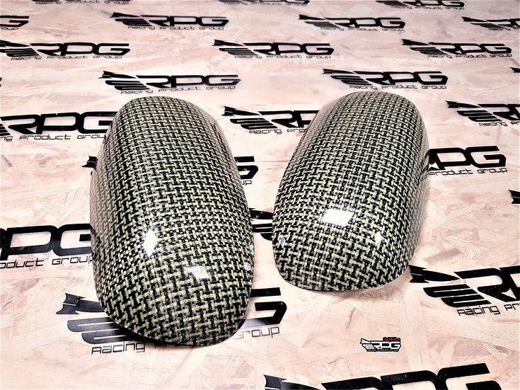 Vacuum Kevlar Weave Mirror Cover Set