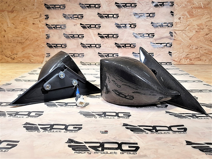 WRC Electrical Adjustable Carbon Mirrors