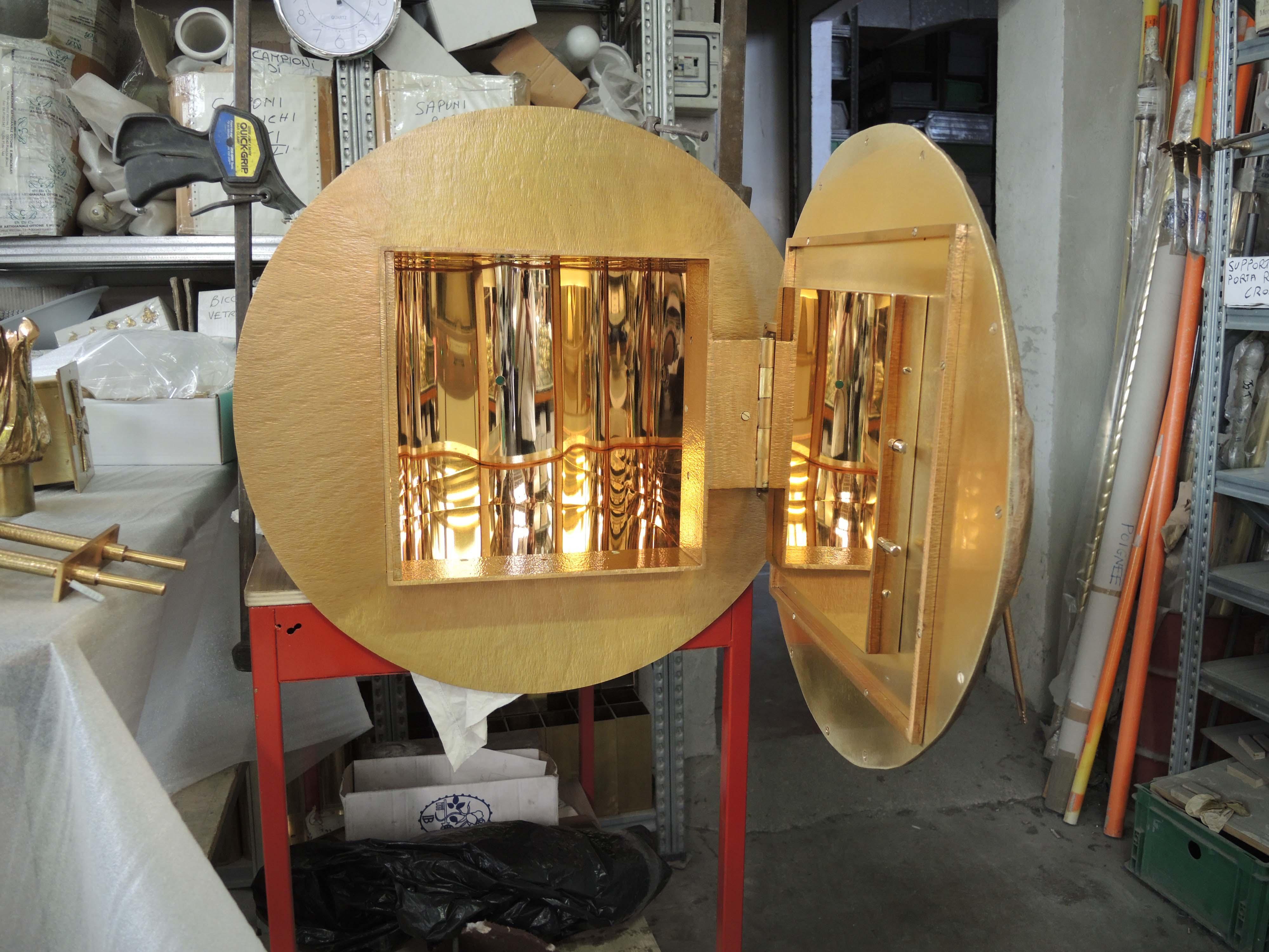 Interno tabernacolo in ottone