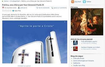 Dedicazione Chiesa San Giovanni Paolo II a Patrica