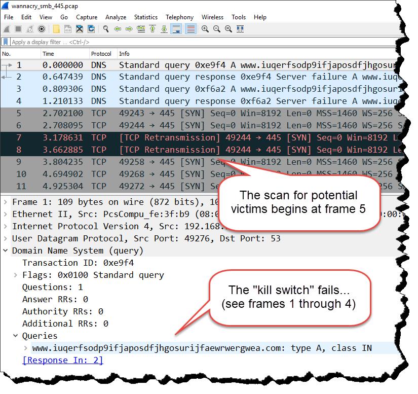 WannaCry trace file