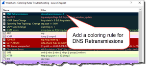 DNS coloring rule