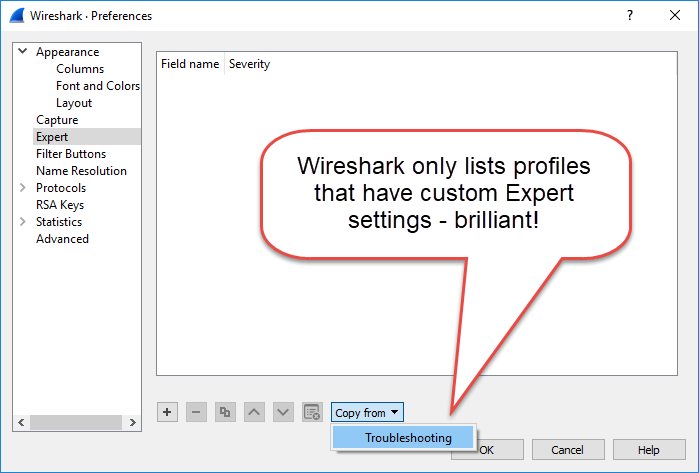 Copying Expert settings
