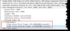 UDP Timestamps