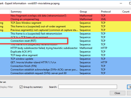 Customize the Wireshark Expert