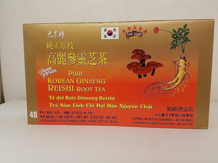 Pure Korean Ginseng Reishi Root Tea (48 Bags)
