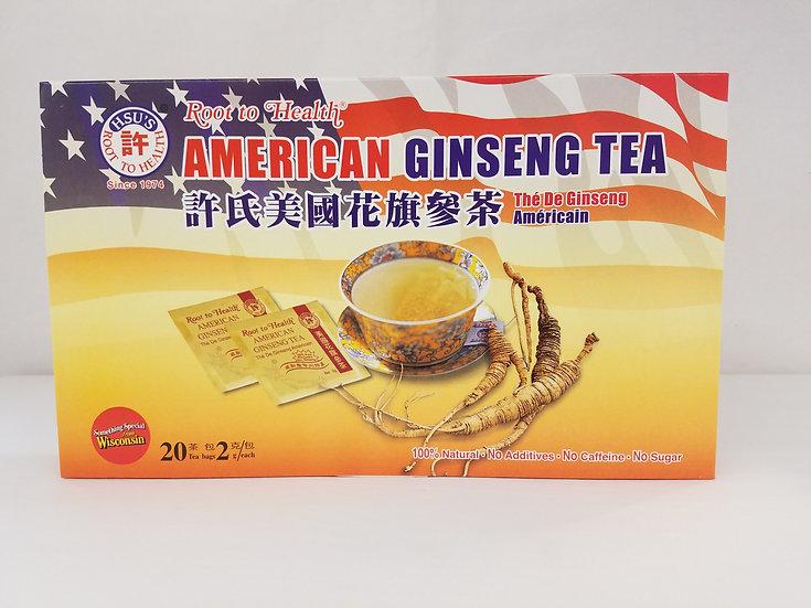 Hsu's American Ginseng Tea (20 Tea Bags)