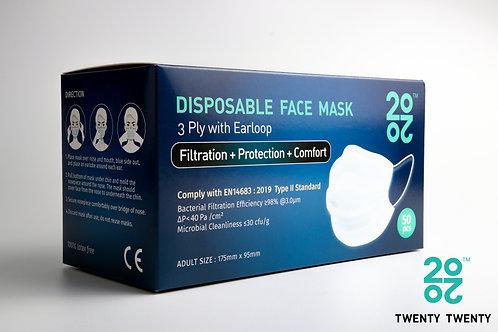 TWENTY TWENTY Disposable Face Mask-EN Type II (no logo)