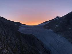 Sonnenaufgang am Weg zum Großvenediger