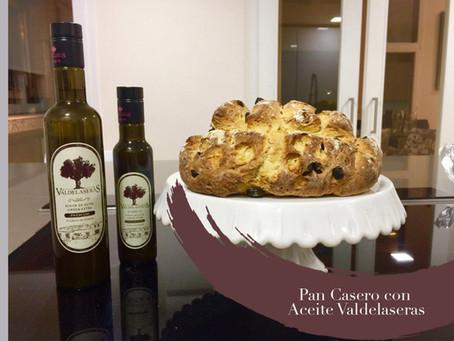 Pan casero con aceite de oliva virgen extra Valdelaseras