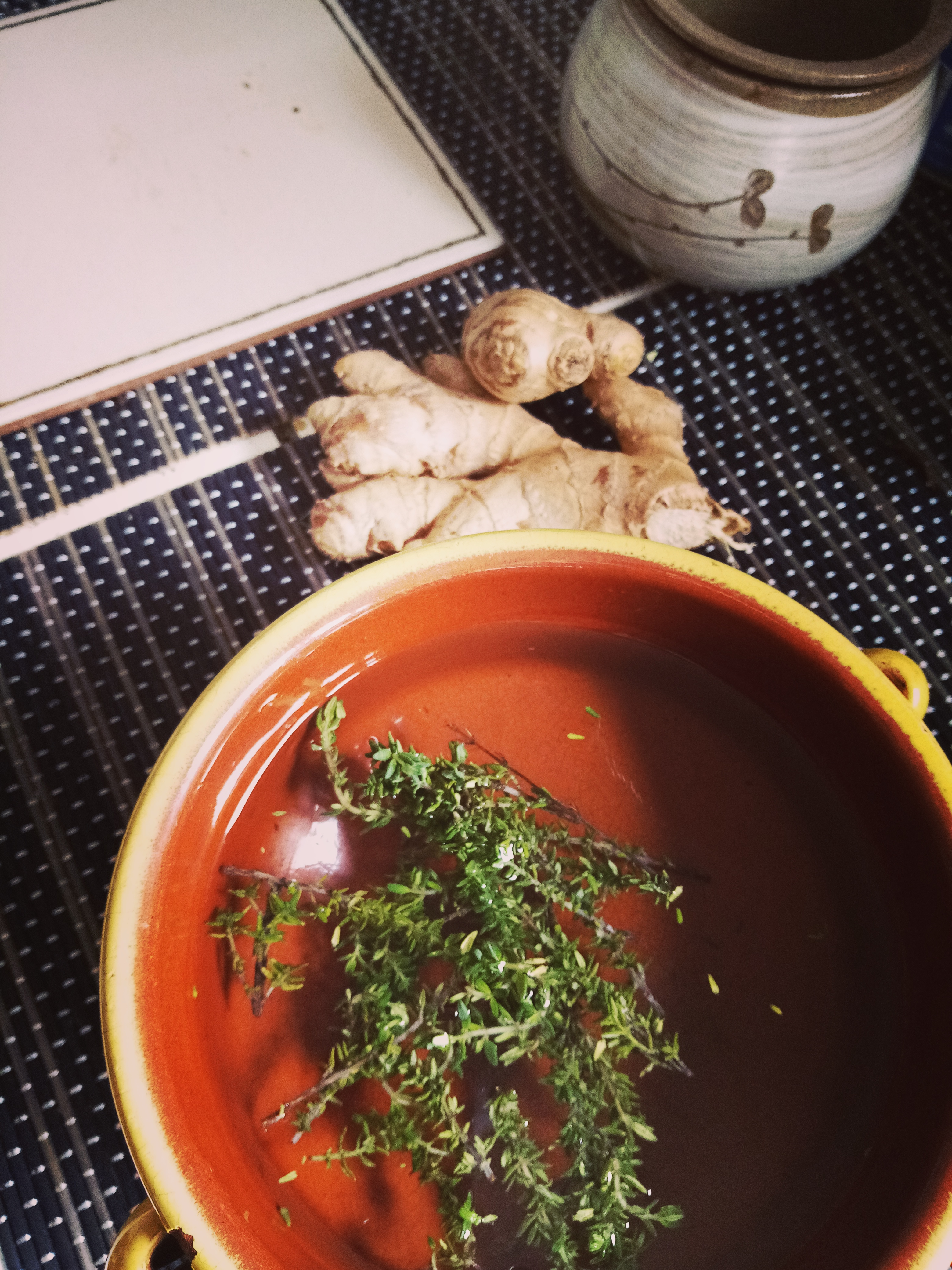 thyme and ginger tea