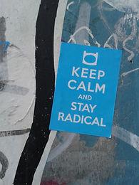 Keep calm and stay radical