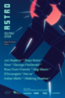 ASTRO fesival lineup 2018 Milano