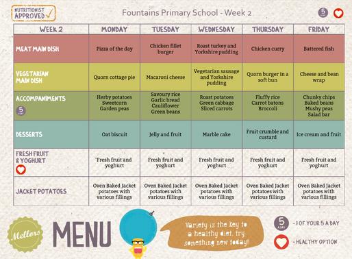 School Meals Week 2 - 06/01/2020