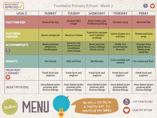 School Meals Week 2 - 27/01/2020