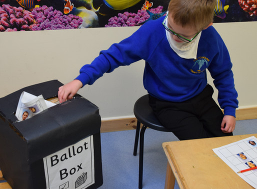 Primary pupils exercise their right to vote!