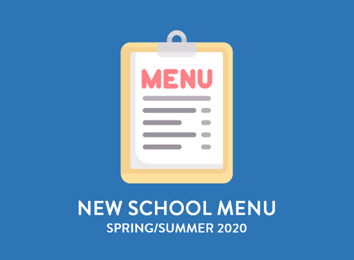 New Spring/Summer Menu