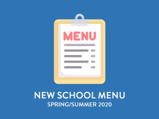 New Spring/Summer Menu
