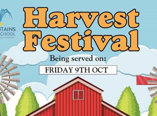 Harvest Festival Theme Menu 09.10.20