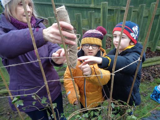 Forest School: Weaving Wall