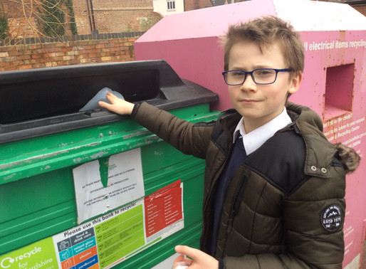 Eco committee take a recycling visit