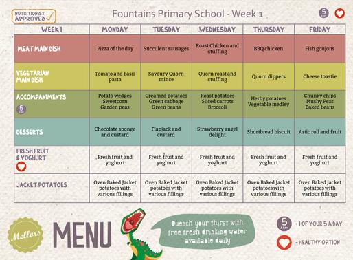 School Meals Week 1 - 20/01/2020