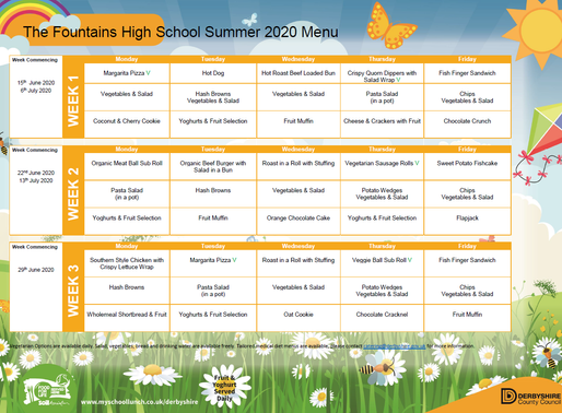 Autumn Term Dinner Menu