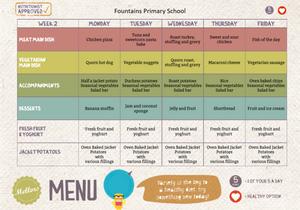 Fountains Primary School Menu - Week 2