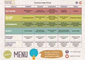 Fountains High School Menu - Week 2
