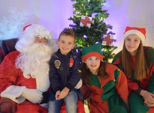 Pupils visit Santa in his new Winter Wonderland