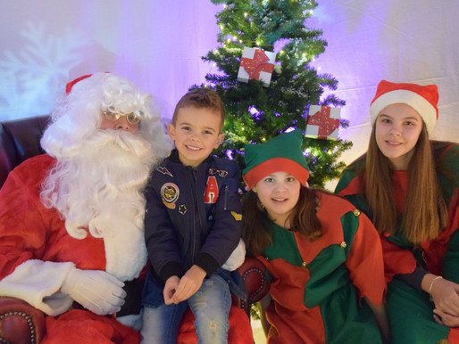 Pupils visit Santa in his new Winter Wonderland