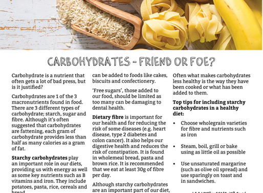 Carbohydrates: Friend or Foe?