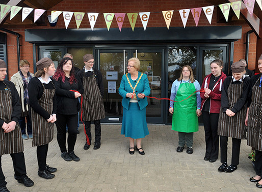 Burton Mail: New community cafe run by pupils from Fountains School in Stretton has opened in Branst