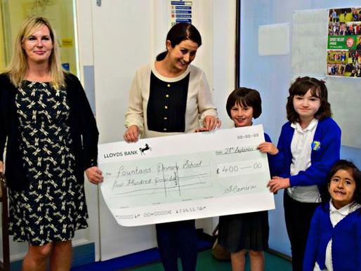 Parent raises a colourful donation of £400