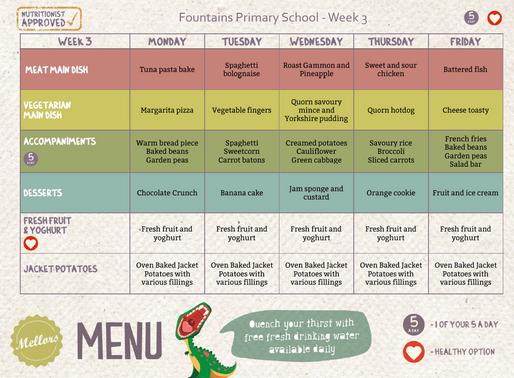School Meals Week 3 - 13/01/2020