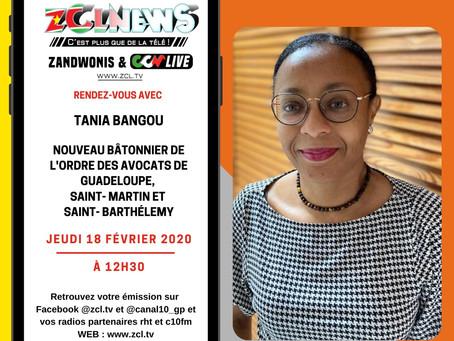 Retrouvez l'interview du Bâtonnier de l'Ordre, Maître Tania BANGOU, du 18 février 2021