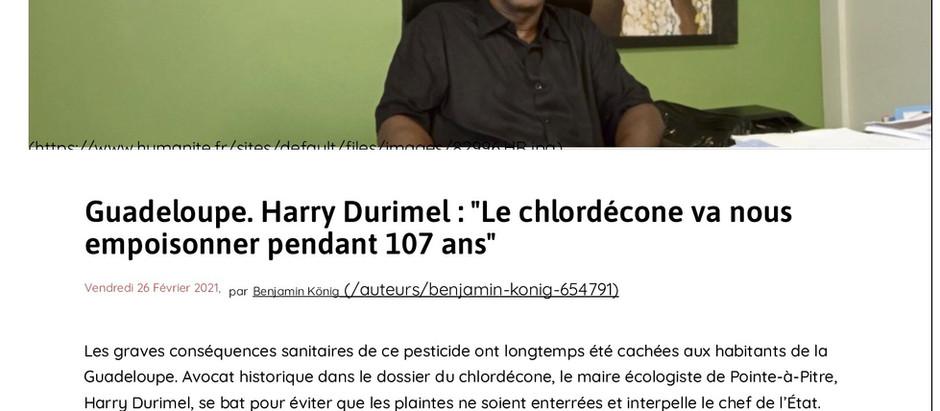 Retrouvez l'interview de Me DURIMEL sur le scandale du chlordécone, dans le journal l'Humanité