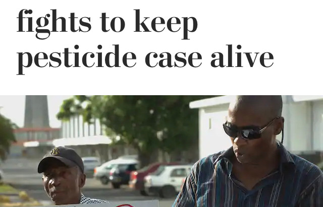 French Caribbean fights to keep pesticide chlordecone case alive