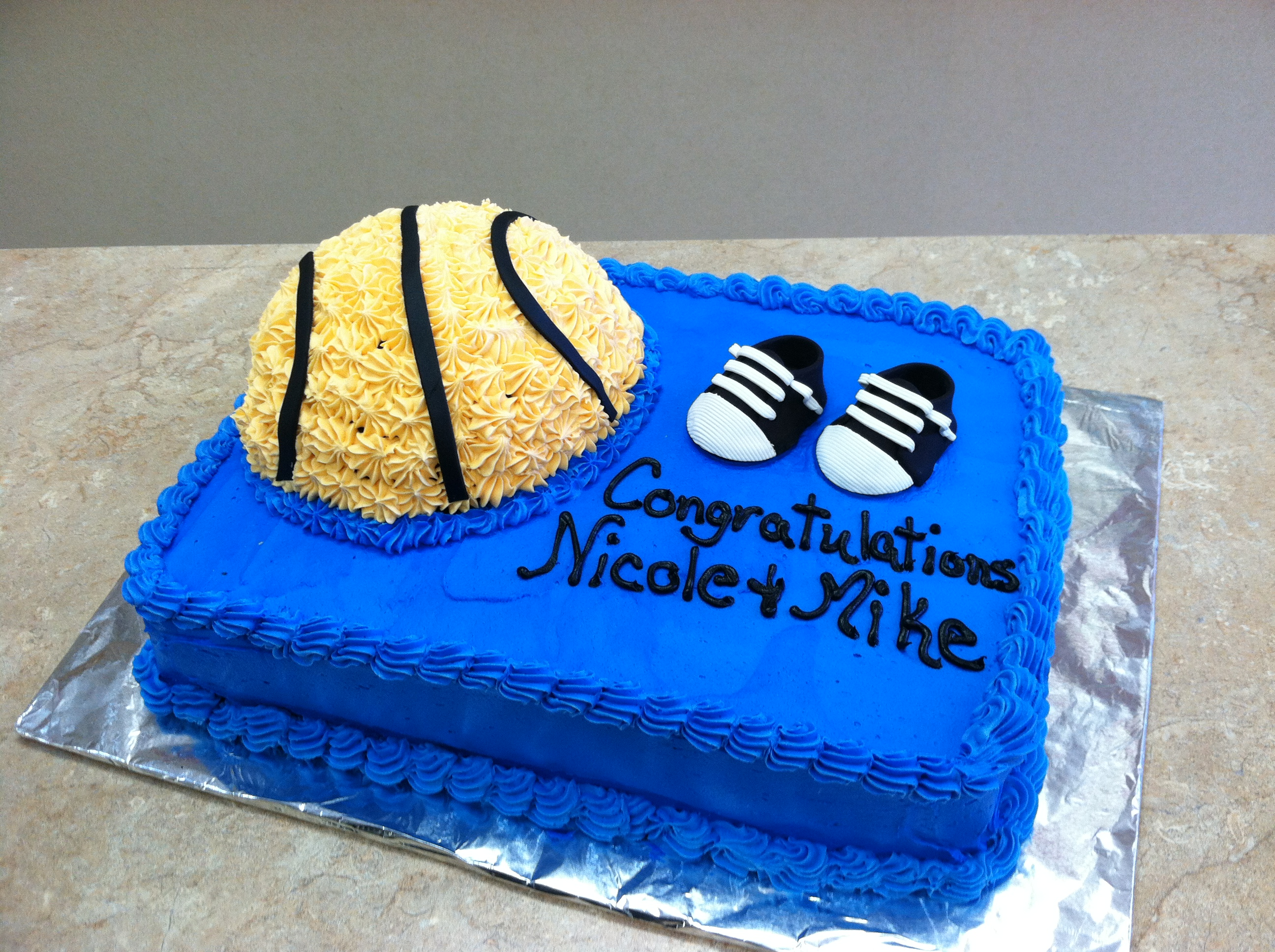 Basketball Shower Cake