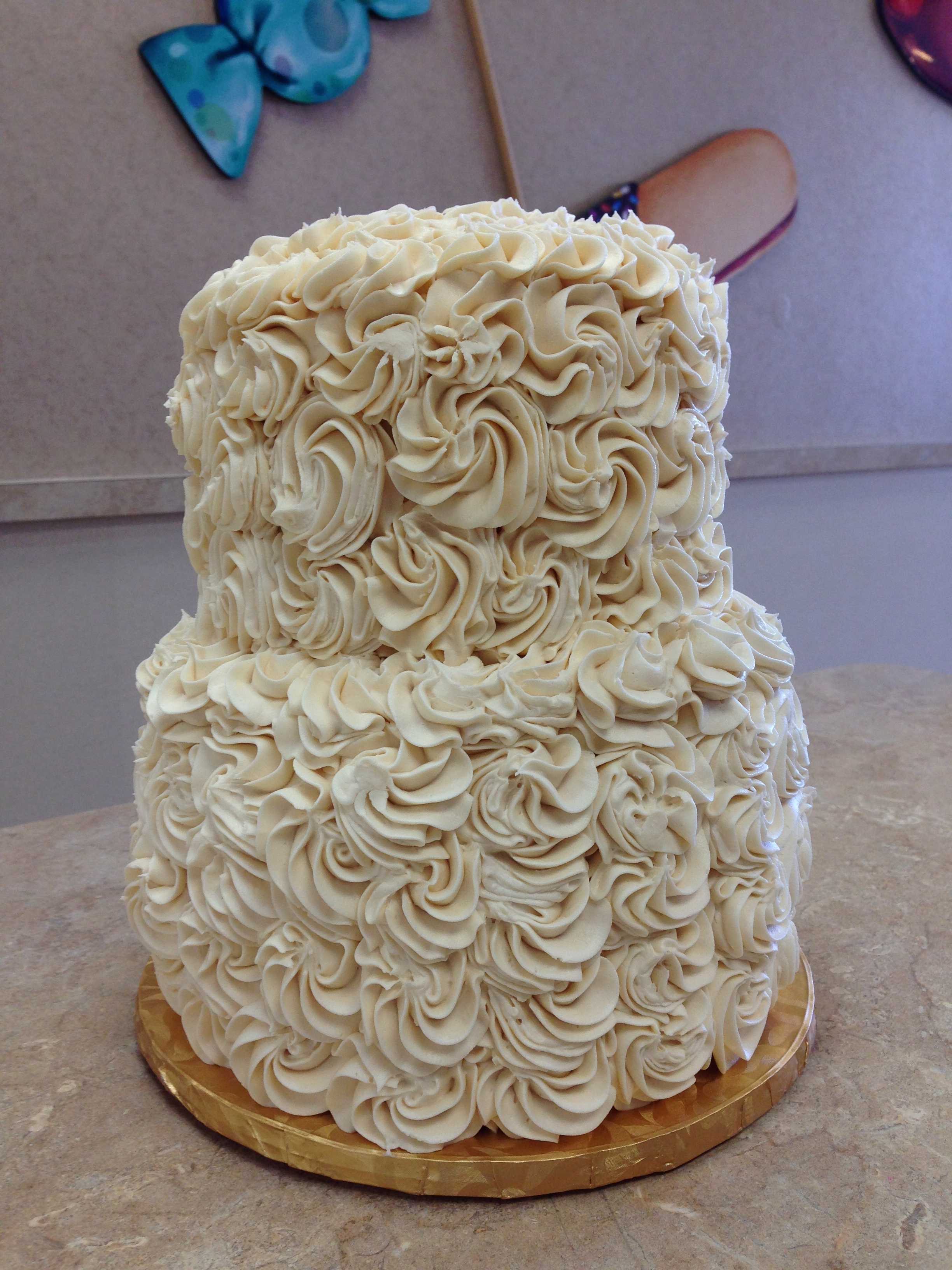 All White Flower Cake