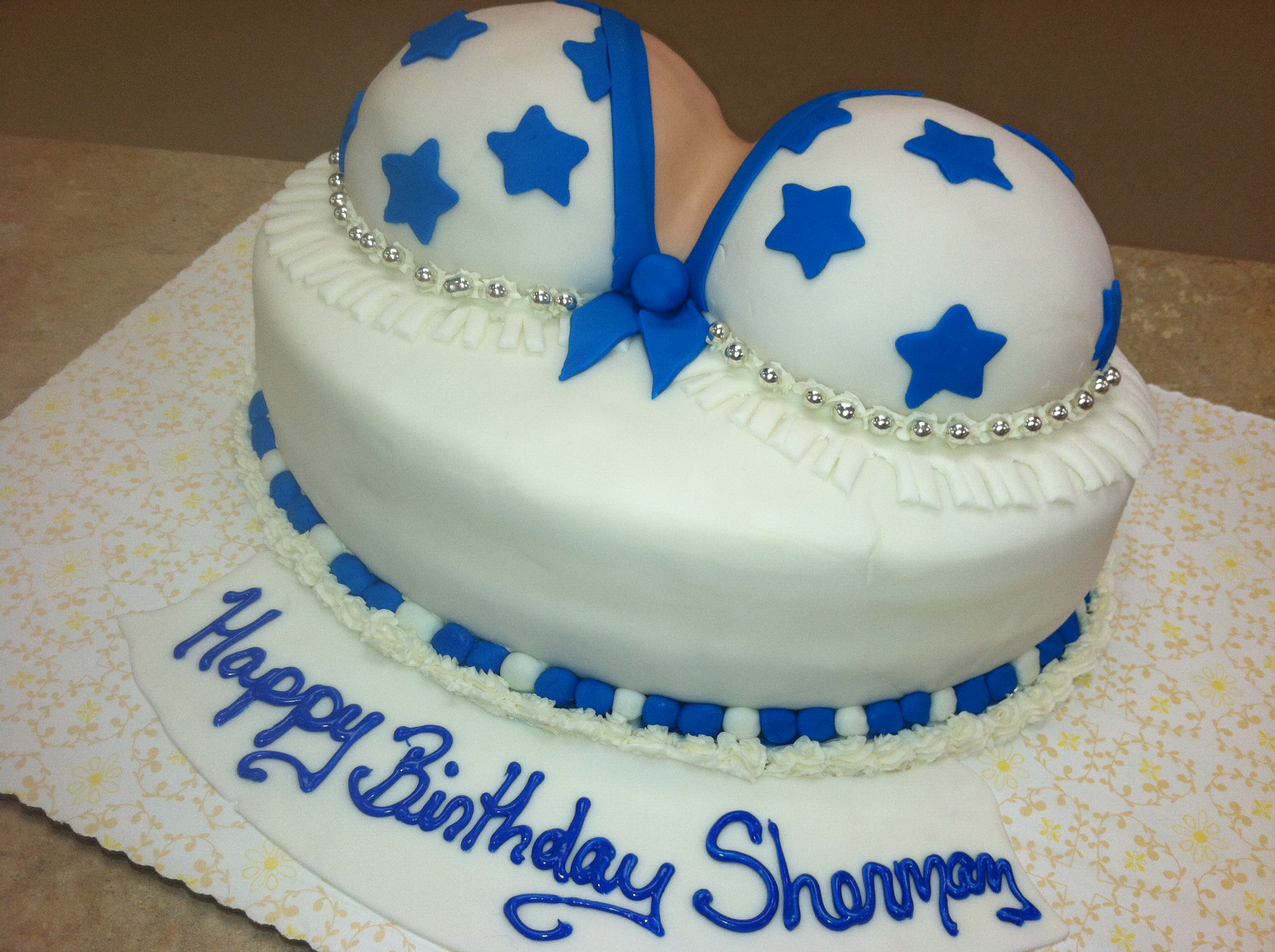 Dallas Cowboys Cheerleader Cake