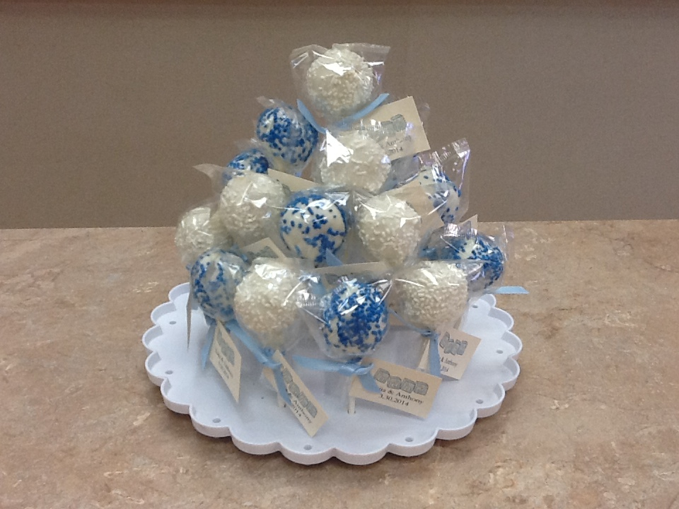Baby Shower Cake Pops in The Stand