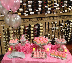 Silver and Pink Candy Table