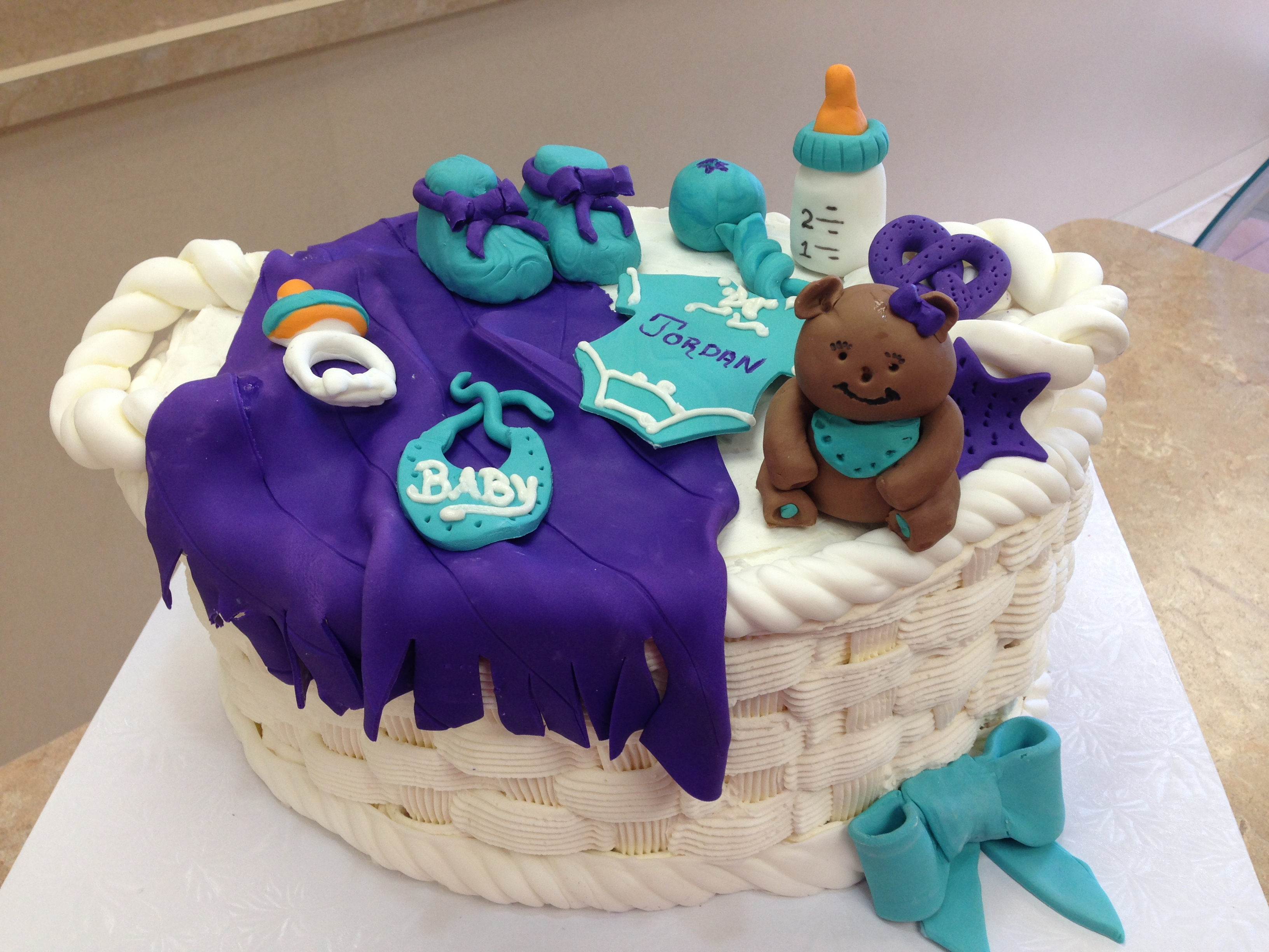 Baby Basket Shower Cake