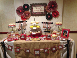 Red White And Black Candy Table