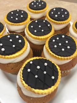 Gold & Black Cupcakes