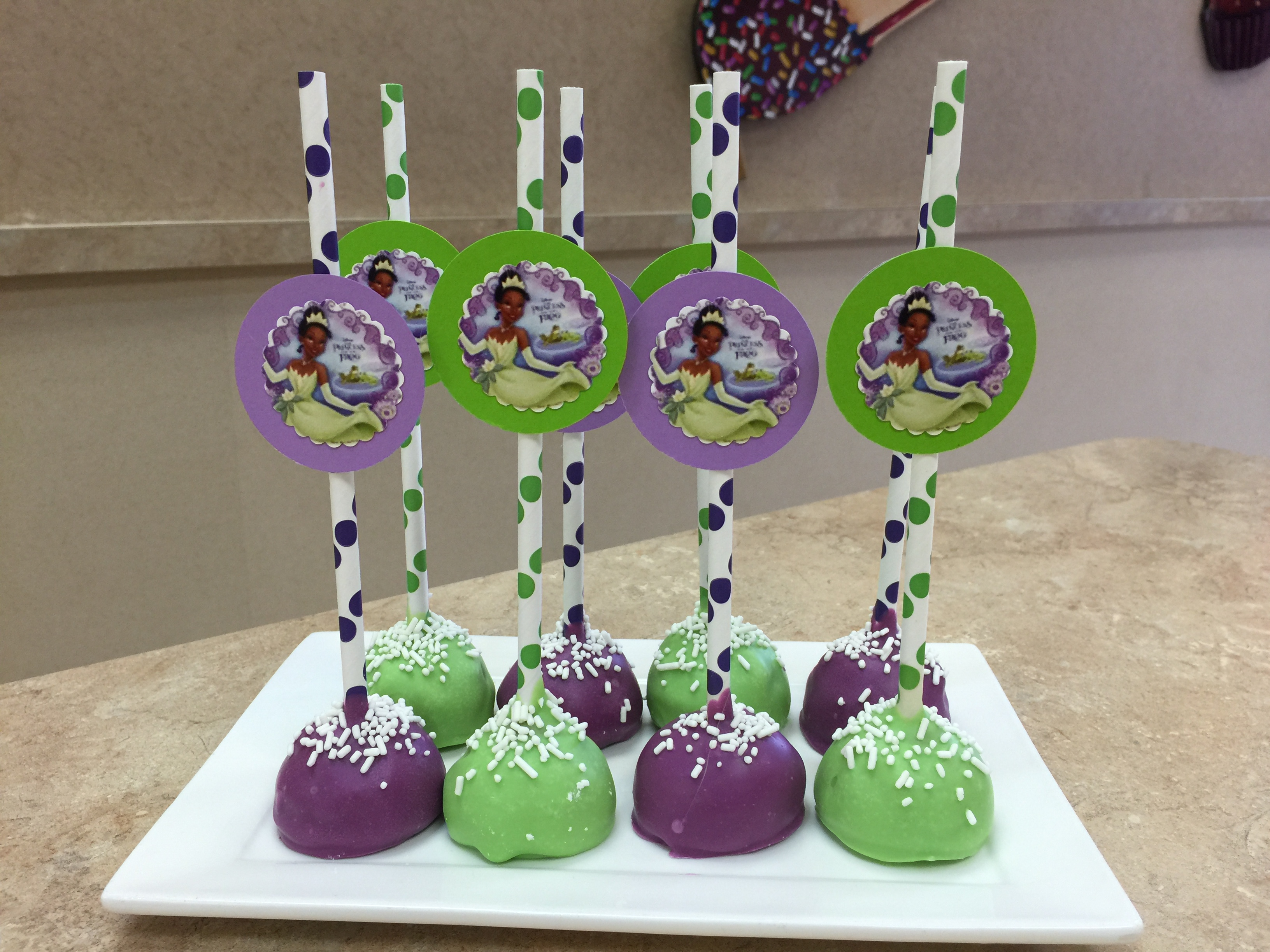 Princess And The Frog Cake Pops